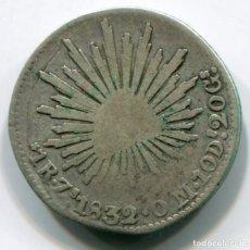 Monedas antiguas de América: MEXICO - MEJICO - 1 REAL DE PLATA - ZACATECAS 1832. Lote 204553511
