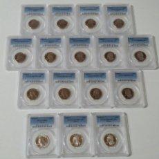 Monedas antiguas de América: 25 CENTAVOS USA 13 MONEDAS 1976-1988 Y 3 PLATA 1976 (PCGS MS66) 1996,1998 PCGS69 DCAM PROOF. Lote 204681465