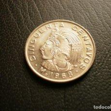 Monnaies anciennes d'Amérique: MEXICO 50 CENTAVOS 1968. Lote 204704242