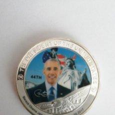 Monedas antiguas de América: MEDALLA MONEDA DE BARACK OBAMA. Lote 204765800