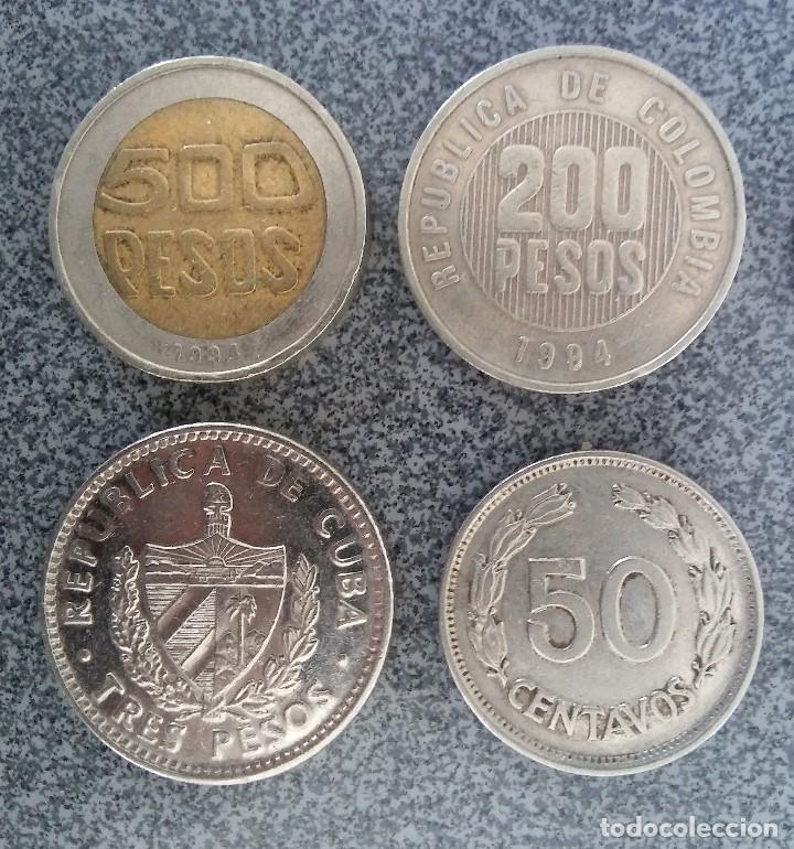 Monedas antiguas de América: Lote monedas Pesos Colombia Cuba Ecuador Brasil - Foto 2 - 204802507
