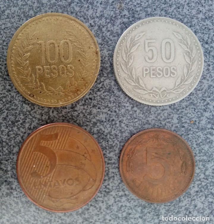 Monedas antiguas de América: Lote monedas Pesos Colombia Cuba Ecuador Brasil - Foto 3 - 204802507