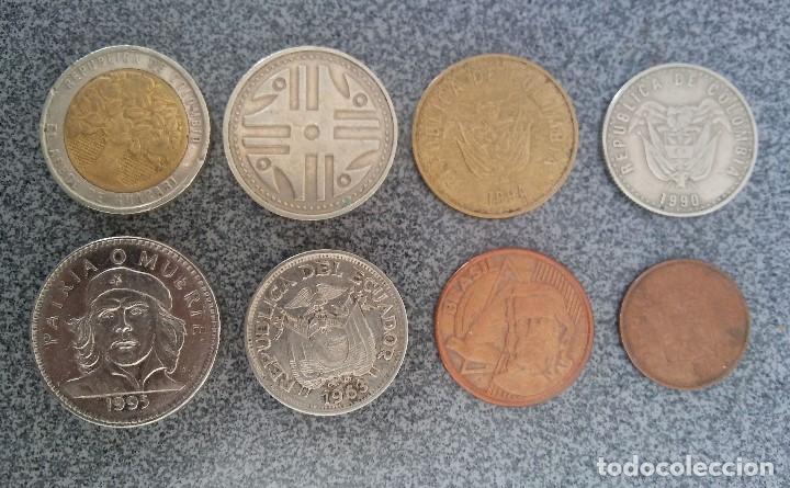 Monedas antiguas de América: Lote monedas Pesos Colombia Cuba Ecuador Brasil - Foto 4 - 204802507