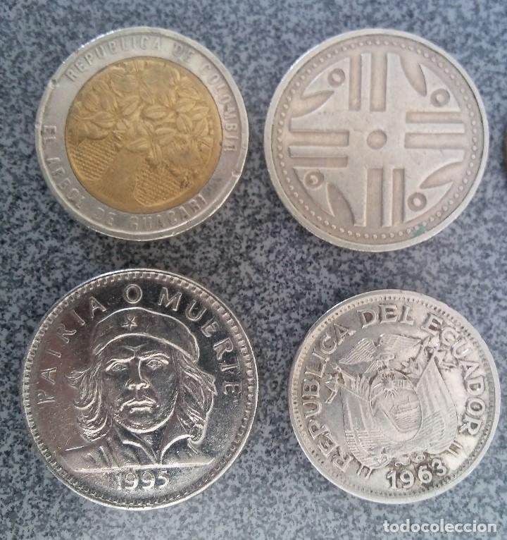 Monedas antiguas de América: Lote monedas Pesos Colombia Cuba Ecuador Brasil - Foto 5 - 204802507