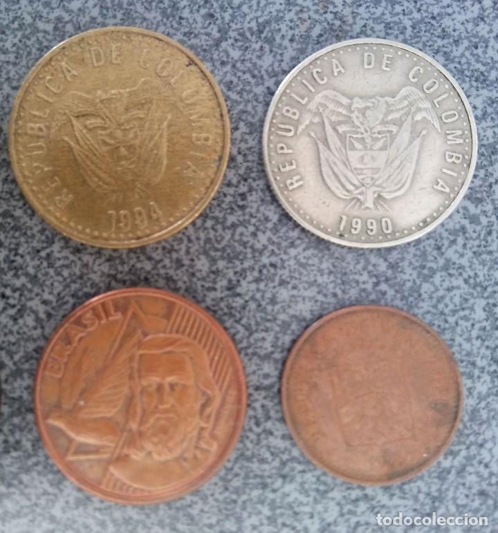 Monedas antiguas de América: Lote monedas Pesos Colombia Cuba Ecuador Brasil - Foto 6 - 204802507