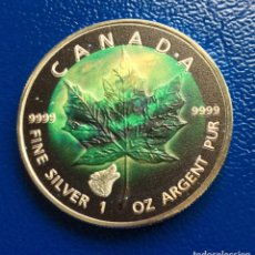 Monedas antiguas de América: MONEDA 5 DÓLARES CANADA 2018 - 1 ONZA PLATA PURA - 31,1 GR. Lote 204808815
