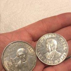 Monedas antiguas de América: LOTE DE 2 MONEDAS MÉJICO PLATA. Lote 204833666