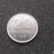 Monedas antiguas de América: 20 CRUZEIROS 1981 - BRASIL. Lote 204997313