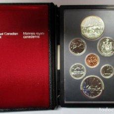 Monnaies anciennes d'Amérique: CANADA 1980. SET PRESTIGE. 7 VALORES INCLUIDO EL DOLAR DE PLATA -OSO BLANCO DEL ARTICO-. LOTE 2821. Lote 205106347