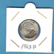 Monedas antiguas de América: PLATA-USA: MONEDA DE 5 CENT 1943-P COBRE-PLATA-MANGANESO. Lote 205360776
