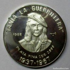 Monedas antiguas de América: CUBA1988. 20 PESOS EN PLATA. 2 ONZAS. TANIA LA GUERRILLERA. LOTE 2854. Lote 205365776