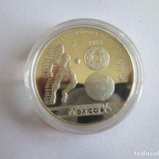 Monedas antiguas de América: MEXICO * 50 PESOS 1985 * COPA MUNDIAL DE FUTBOL * PLATA. Lote 222340402