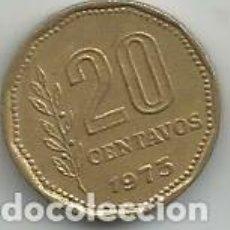 Monedas antiguas de América: MONEDA DE ARGENTINA 20 CENTAVOS 1973. Lote 205521663