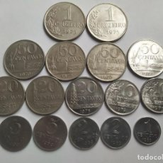 Monedas antiguas de América: LOTE CON ANTIGUAS MONEDAS DE BRASIL. Lote 205597457
