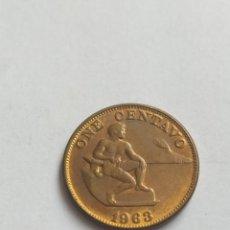 Monedas antiguas de América: ANTIGUA MONEDA ONE CENTAVO REPUBLIC OF THE FILIPINAS 1963. Lote 205609673