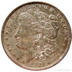 Monedas antiguas de América: ESTADOS UNIDOS - DOLAR MORGAN 1921 D - DENVER (5825). Lote 205680126