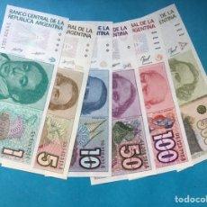 Monedas antiguas de América: X-2092 ) ARGENTINA,,6 BILLETES 1-5-10-50-100-500 AUSTRAL,,NUEVO SIN CIRCULAR. Lote 205680347