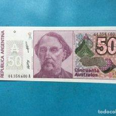 Monedas antiguas de América: X-2094 ) ARGENTINA,,50 AUSTRALES NUEVO SIN CIRCULAR. Lote 205681401