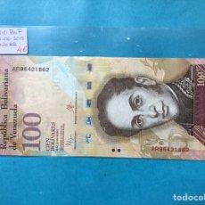 Monedas antiguas de América: X-2099 ) VENEZUELA,,100 BOLÍVARES,,23-06-2015,,SERIE,,AR,,NUEVO SIN CIRCULAR. Lote 205683821