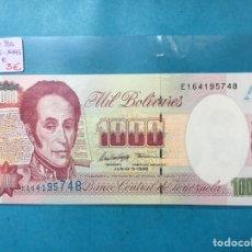 Monedas antiguas de América: X-2101 ) VENEZUELA,,1000 BOLÍVARES 05-06-1995,,SERIE E NUEVO SIN CIRCULAR. Lote 205688670