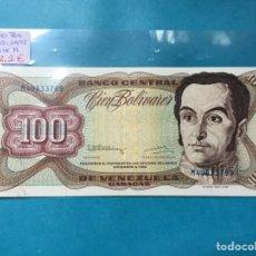 Monedas antiguas de América: X-2102 ) VENEZUELA,,100 BOLIVARES 08-12-1992,,SERIE H,, EN ESTADO NUEVO SIN CIRCULAR. Lote 205689041