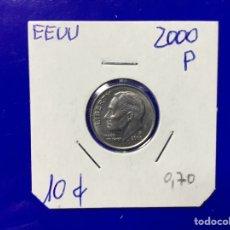 Monedas antiguas de América: X-1814 )EEUU,,10 CENT, 2000,,P,, EN ESTADO MUY BUENO. Lote 205691785