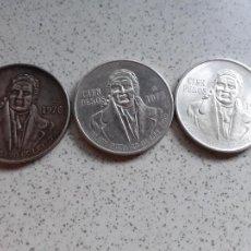 Monedas antiguas de América: MEXICO - 100 PESOS DE PLATA DEL AÑO 1978. LOTE DE 3. Lote 206393896