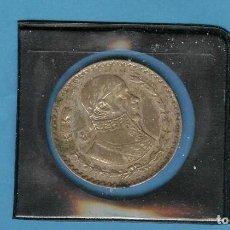 Monedas antiguas de América: PLATA-MEXICO. PESO 1963. 16 GRAMOS DE LEY 0,100. Lote 206429407