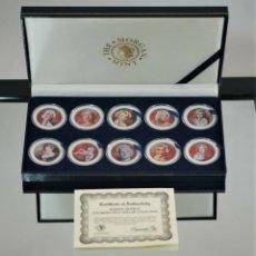 Monedas antiguas de América: MARILYN MONROE COLORIZED HALF DOLLAR SET 10 COIN'S THE MORGAN MINT.. Lote 206474840