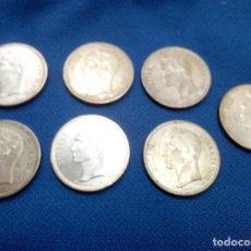 Monedas antiguas de América: LOTE DE SIETE MONEDAS DE PLATA DE 2 BOLIVARES DE VENEZUELA SIN CIRCULAR.. Lote 206590975