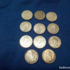 Monedas antiguas de América: LOTE DE ONCE MONEDAS DE PLATA DE 1 BOLIVAR VENEZUELA SIN CIRCULAR.. Lote 206591726