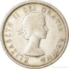 Monedas antiguas de América: MONEDA, CANADÁ, ELIZABETH II, 25 CENTS, 1953, ROYAL CANADIAN MINT, OTTAWA, BC+. Lote 207154400