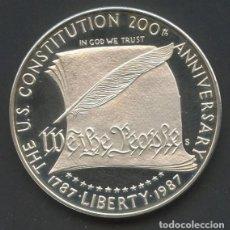 Monedas antiguas de América: ESTADOS UNIDOS, MONEDA DE PLATA, CONSTITUTION, VALOR: DOLAR, 1987 S, COIN SILVER USA. Lote 207247978