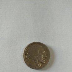 Monedas antiguas de América: MONEDA DE CINCO CENTAVOS. FIVE CENTS. NICKEL. USA. INDIO Y BÚFALO O BISONTE. LIBERTY. 1920.. Lote 207639925