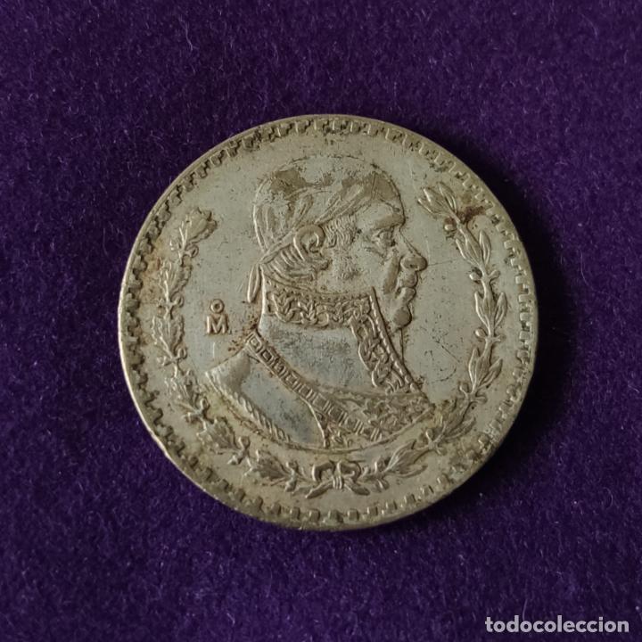 Monedas antiguas de América: MONEDA DE MEXICO. 1 PESO. 1966. MORELOS. PLATA BAJA. - Foto 2 - 207851946
