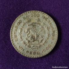 Monedas antiguas de América: MONEDA DE MEXICO. 1 PESO. 1966. MORELOS. PLATA BAJA.. Lote 207851946
