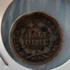 Monedas antiguas de América: HALF DIME 1857 UNITED STATES PLATA. Lote 208286678