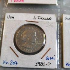 Monedas antiguas de América: MONEDA ESTADOS UNIDOS 1, DÓLAR 1981PSIN CIRCUULAR. Lote 208335418