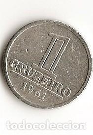 1 CRUZEIRO 1961 BRASIL (Numismática - Extranjeras - América)
