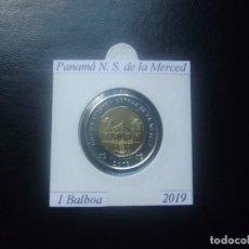 Moedas antigas da América: PANAMA 2019, 1 BALBOA, BIMETALICA, NUESTRA SRA. DE LA MERCED, SC-UNC. Lote 208848483
