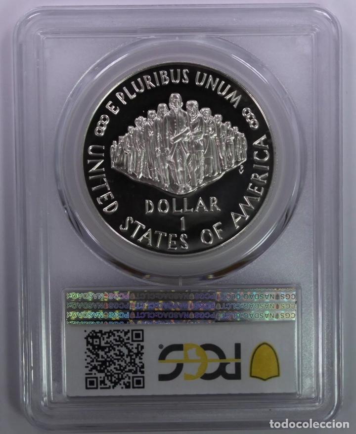 Monedas antiguas de América: Moneda onza plata - Estados Unidos - conmemorativa - proof sin circular (oro escudos pesetas duro) - Foto 2 - 208887797