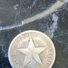 Monete antiche di America: VEINTE CENTAVOS DE PLATA. REPÚBLICA DE CUBA. 900 MILÉSIMAS. 5 GR. 1915.. Lote 208916750
