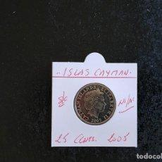 Monnaies anciennes d'Amérique: ISLAS CAIMAN(CAYMAN) 25 CENTIMOS 2005 S/C KM=134. Lote 209834621
