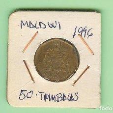 Moedas antigas da América: MALAWI. 50 TAMBALAS 1996. ACERO BAÑADO EN LATÓN. KM#30. Lote 210032922