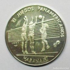Monedas antiguas de América: CUBA 1990. MONEDA DE PLATA DE 10 PESOS. XI JUEGOS PANAMERICANOS. VOLLEYBALL. LOTE 3199. Lote 210036080