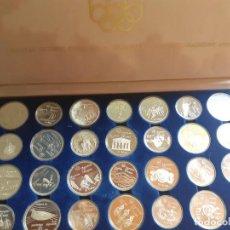 Monedas antiguas de América: CANADA. MALETÍN DE 28 MONEDAS DE PLATA DE LA OLIMPIADA DE MONTREAL. Lote 210370306