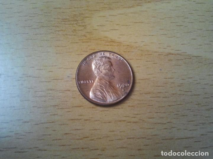 1980-D LINCOLN MEMORIAL CENT COPPER ALLOY PENNY (Numismática - Extranjeras - América)