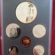 Monedas antiguas de América: SET MONEDAS CANADÁ 1995 1 DOLLAR PLATA. Lote 211458127