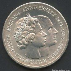 Monedas antiguas de América: CAYMAN ISLANDS, MONEDA DE PLATA, SILVER WEDDING, 25 DOLLARS, 1972, COIN SILVER. Lote 211836523