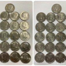 Monedas antiguas de América: LOTE DE 21 MONEDAS. EEUU. MEDIO DOLAR. HALF DOLLAR. DEL AÑO 1969 AL 1979. EBC+. VER FOTOS Y LEER.. Lote 212332870